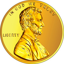 Vector American Money Gold Coi...