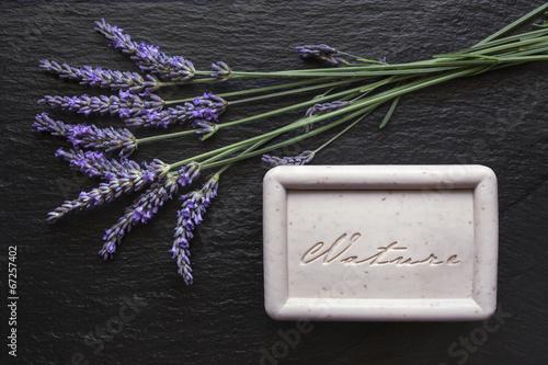 Poster Lavendel Lavande savon ardoise