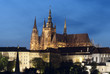 Prague.Amazing view of The St. Vitus Cathedral at blue hour