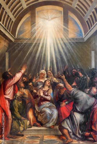 Fototapeta premium Wenecja - Zstąpienie Ducha Świętego przez Tycjana