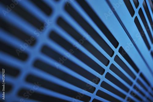 Fotografie, Obraz  Aluminium Lüftungsgitter
