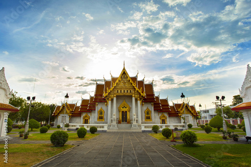 Photo  Wat Benchamabophit in Bangkok
