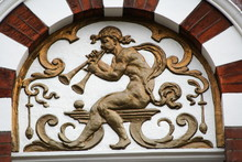Decorative Entrance With Pan Playing Pipe