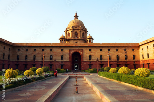 Crédence de cuisine en verre imprimé Delhi Indian Government buildings, Raj Path, New Delhi, India