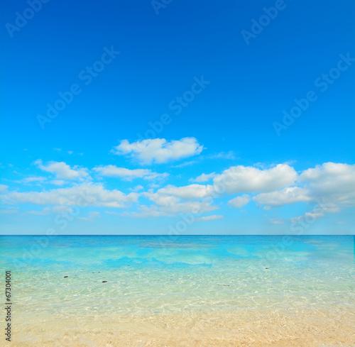 Foto op Canvas Strand clear day in Cala Biriola shore