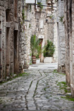 Fototapeta Alley - Old Stone Streets of Trogir, Croatia
