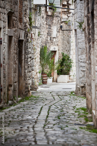 Old Stone Streets of Trogir, Croatia