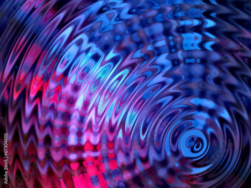Fotografie, Obraz  Colorful Water Resonance Background