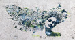 canvas print picture - Vogelfrau - Streetart