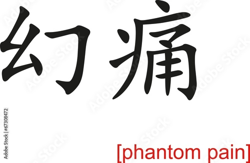 Photo  Chinese Sign for phantom pain