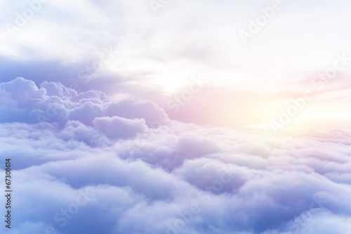 Poster Heaven Sunny sky background