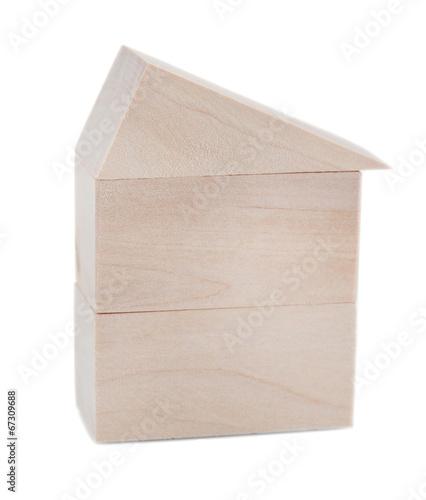 Fotografija  Wood house isolated on white