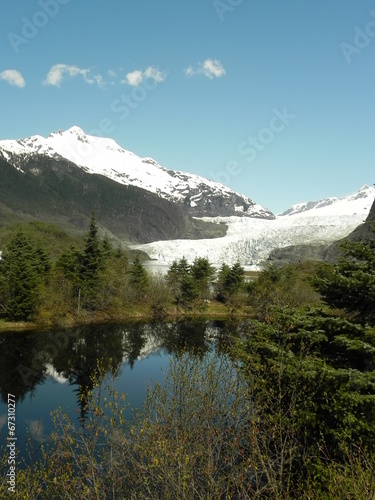 Printed kitchen splashbacks Reflection mendenhall glacier