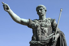 Roman Emperor Augustus In Rome, Italy