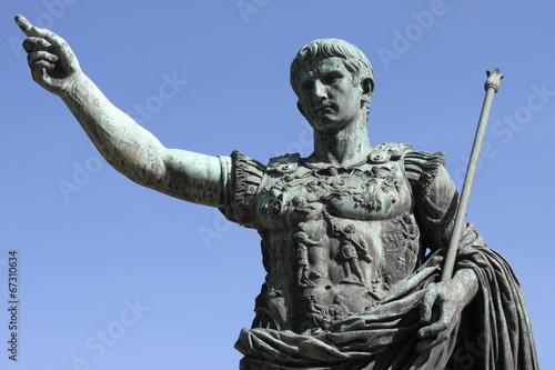 Leinwand Poster Roman emperor Augustus in Rome, Italy