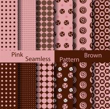 Pink And Brown Polka Dot