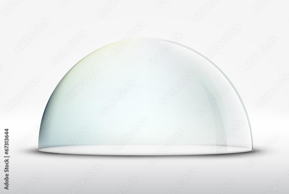 Fototapety, obrazy: glass dome on white background