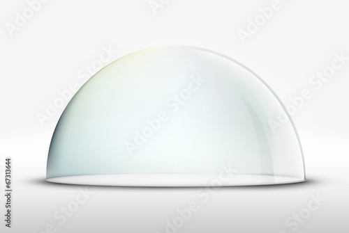 Fototapeta glass dome on white background
