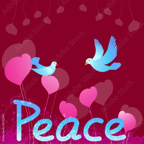 Poster Peace Dove