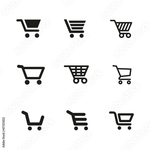 Photo  shopping cart icons