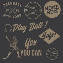 Vintage Baseball Labels