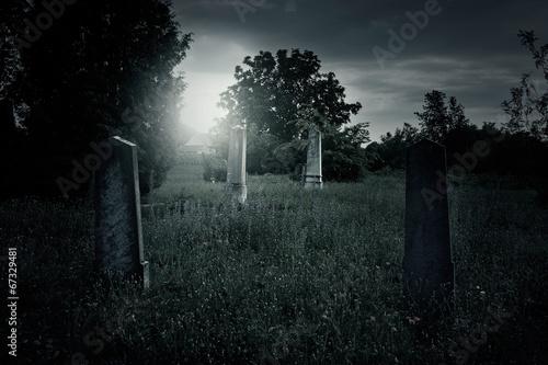 Spoed Fotobehang Begraafplaats Cemetery