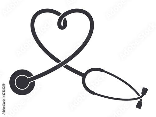 Fotografie, Obraz  Stethoscope icon