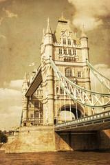 nostalgisch texturiertes Bild der Tower Bridge