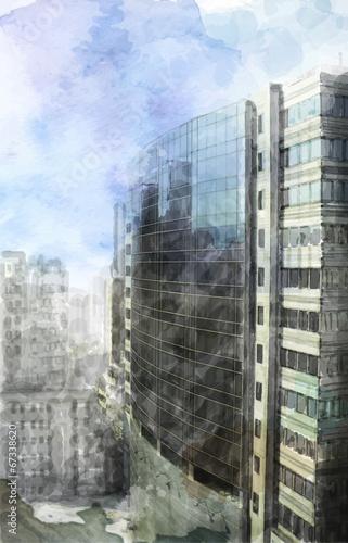 akwarela-ilustracja-nowoczesnej-przestrzeni-miejskiej