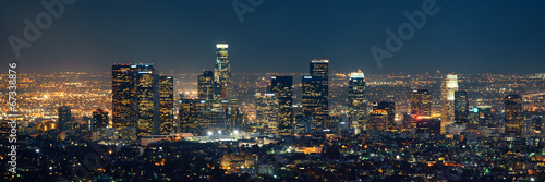 Los Angeles at night - fototapety na wymiar