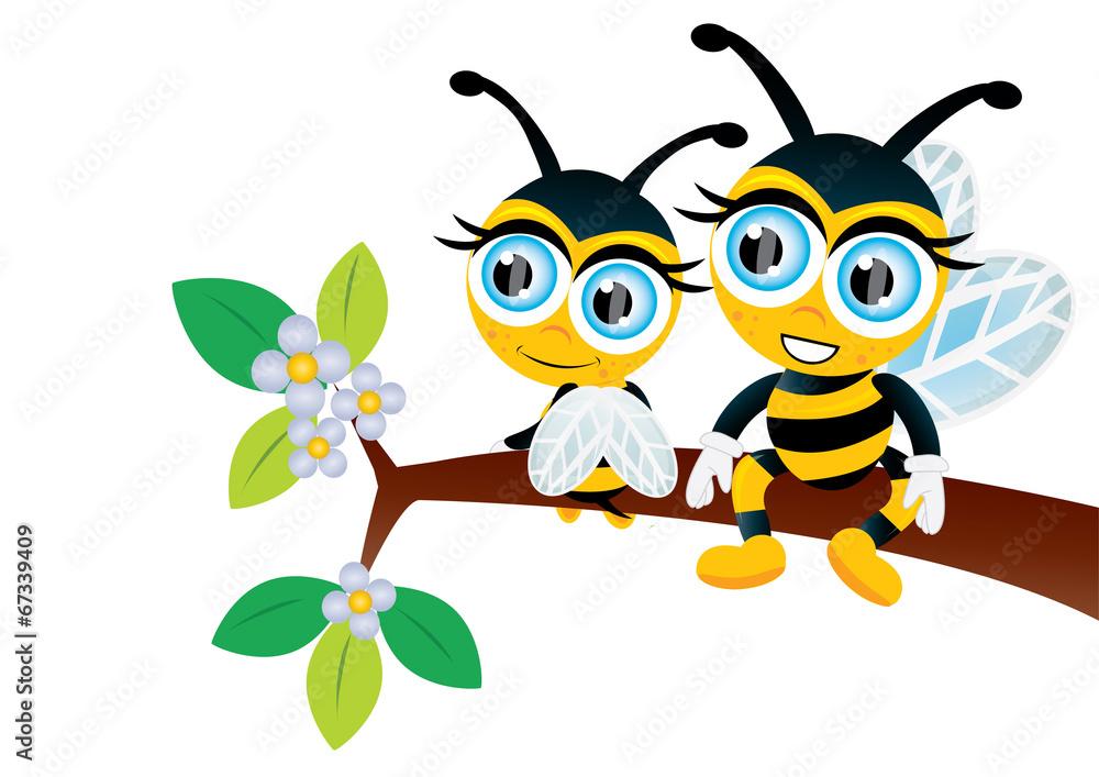 Fototapety, obrazy: pszczółki na drzewie