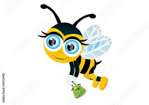 Fototapeta lecąca pszczółka obraz