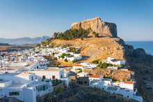 Lindos, Castle Above On The Gr...
