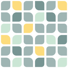 Abstract Gray Yellow Rounded S...