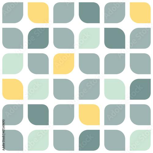 Fototapeta do kuchni Szaro żółte zaokrąglone kwadraty