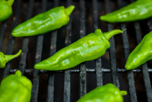 Green Peppers On The Grill