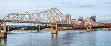 Eads Bridge, And Martin Luther King Bridge As Seen From The Miss