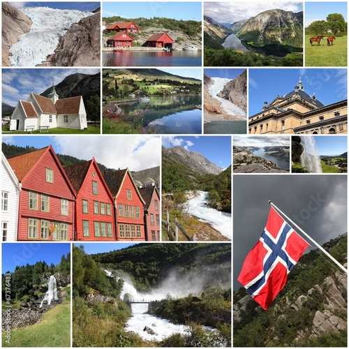 Photo  Norway collage - travel photo collage