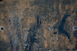 canvas print picture - Old grunge rough oxidazed iron surface metal corroded plate