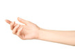 canvas print picture - Female caucasian hand gesture isolated