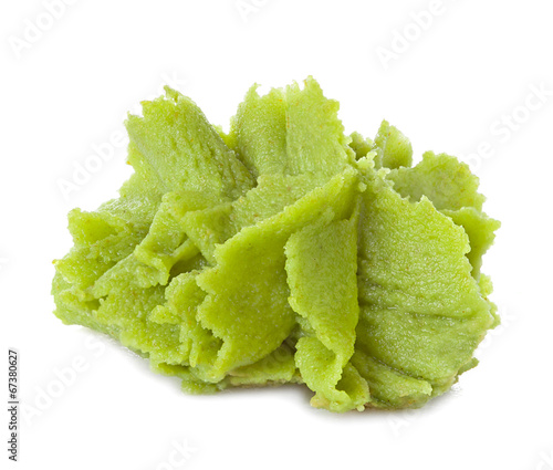Canvas Print wasabi isolated on white background