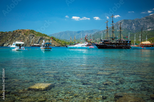 Foto op Canvas Turkije Mediterranean coast, Turkey Kemer