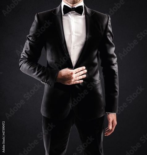 Elegant businessman Canvas Print