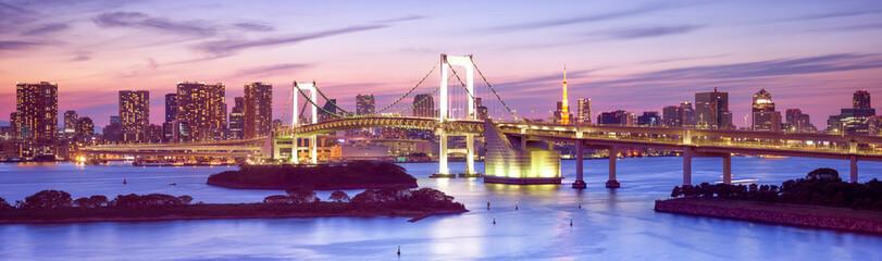 FototapetaRainbow Bridge in Tokyo