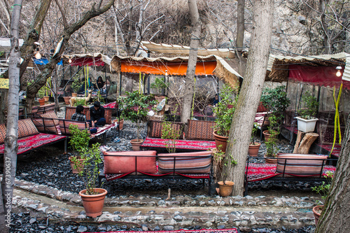 Tea house in Darband quarter in Tehran