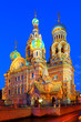 canvas print picture - Night St. Petersburg. Russia.