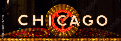 Deurstickers Chicago Chicago Sign Landscape