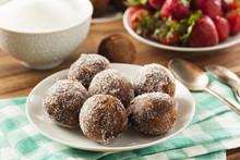 Homemade Chocolate Donut Holes