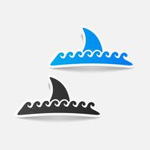 Realistic Design Element: Shark