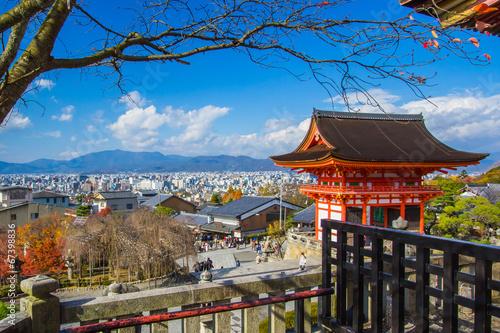 Poster de jardin Kyoto Kiyomizu Dera temple in Kyoto , Japan
